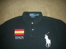 (a)   Polo Ralph Lauren Custom Fit Solid Black Jumbo Pony SPAIN Shirt Large L