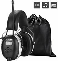 ZOHAN 042 Ear Defenders with Radio, AM/FM Digital Safety Ear Protector Muffs,