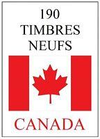 Lot 195 timbres CANADA **