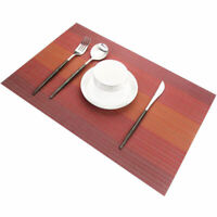 Placemats for Dining Table Woven Vinyl Stain Resistant Table Mats Set of 4