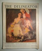 1924 FEBRUARY THE DELINEATOR MAGAZINE - ROCKWELL KENT - GREAT FASHION - ST 530I