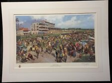 Derby Day...Derby Stake 1979,limited edition & signed print by Terence Cuneo