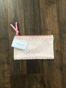 Gartner Studios Pink and Gold Canvas Pouch