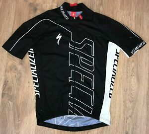 Specialized Black big logo rare cycling jersey size M