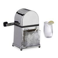 Eiscrusher Maschine mit Eisschaufel, Ice Crusher manuell, Metall Eiszerkleinerer