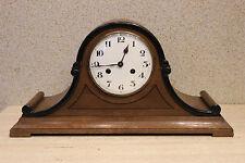 RARE mantel clock with full porcelain shield EBAG   LONDON