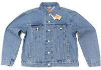 Levi's Women's Ex-boyfriend Trucker Jacket In Concrete Indigo Medium Wash Size M