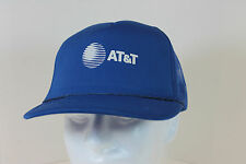 Vintage AT&T Baseball Trucker Cap Hat Adjustable Blue Mesh