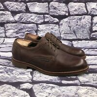 Mephisto Air Jet Men's Brown Leather Plain Toe Dress Casual Shoes Size 10