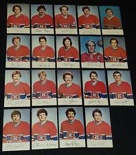 1980/81 - MONTREAL CANADIENS - NHL HOCKEY PLAYERS - POSTCARDS (19/27) - ORIGINAL