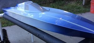 "42"" V HULL FIBERGLASS RC BOAT KIT W/ MARINE PLYWOOD STRINGERS & TRANSOM BACKER"