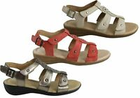 Hush Puppies Carmin Womens Comfortable Leather Adjustable Flat Sandals - SSA