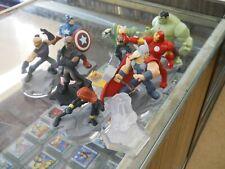 Lot Of 8 Marvel Avengers Disney Infinity 2.0 Super Hero Set Figures 1 crystal