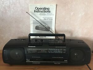 PANASONIC RX-FT510 STEREO TWIN CASSETTE PLAYER/RECORDER AND 4-BAND AM/FM RADIO