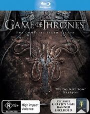 Game of Thrones Season 6 Six Blu-Ray Very Rare Greyjoy Banner Limited Collector