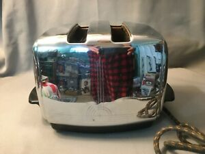 Vintage Sunbeam Radiant Shade Control Auto Drop Toaster Model T-20 Chrome USA