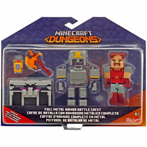 Mattel - Minecraft Dungeons Deluxe Battle Chest - FULL METAL ARMOR  GTP25 - New
