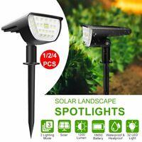 Outdoor 4Pcs 32LED Solar Lamp Spotlight Garden Yard Patio Lawn Lights Landscape