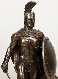 LEONIDAS Greek Warrior SPARTAN KING Statue Sword Hoplite Shield -SUPERIOR FINISH