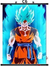 New Goku Super Saiyan Blue Dragon Ball Super Anime Custom Silk Poster Wall Decor