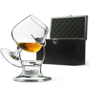 Deluxe Cognac & Brandy Warmer Gift Set with Snifter Glass and Presentation Box