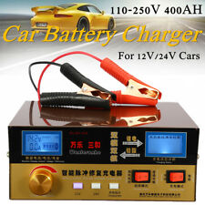 Automatic Intelligent Pulse Repair Type 12V/24V 400AH Car Battery Charger UK