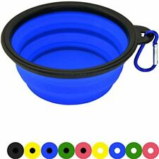 Zenify Dog Bowl - 400ml Collapsible Foldable Food and Water Feeder Dish - Portab