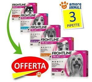 Frontline TRI-ACT 3 pipette per cani  2-5 / 5-10 / 10-20 / 20-40 / 40-60 kg  NEW