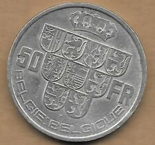 50 Francs argent Léopold III 1939 FL-FR Pos. B