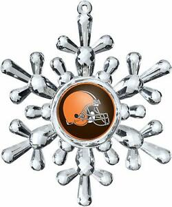 Cleveland Browns Football NFL Traditional Snowflake Christmas Tree Ornament