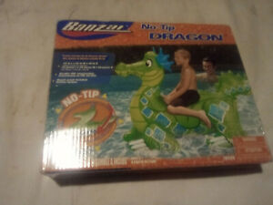Rare Banzai Dragon Inflatable Ride On Pool Toy Float
