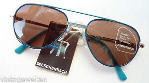 Eschenbach Kinder Marken Sonnenbrille blau grün Pilot Doppelsteg Aviator