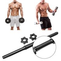 45cm Dumbbell Bars+Spinlock Collars Strength Training & Weights Standard Unisex