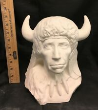 Western Ceramic Bisque Buffalo Medicine Ready to Paint