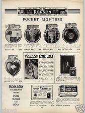 1938 PAPER AD Ronson Pocket Cigarette Lighter Penciliter Case Watch Kingcase