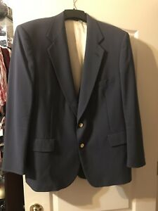 HEISMAN JACKET SPORTS COAT BUTTONS 44 BLUE BEAUTIFUL GREAT CONDITION