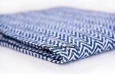 Indian Quilt Indigo Kantha Bedspread Throw Cotton Blanket Twin Gudari Bohemian