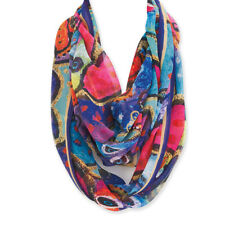 "Laurel Burch Dogs Papillion Artistic Infinity Scarf Wrap 19.5""x35"""
