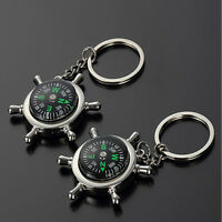 Compass Metal Car Keyring Keychain Key Chain Ring Keyfob
