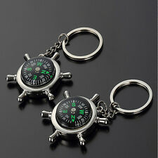 Key Chain Ring Keyfob Gift Fashion Compass Metal Car Keyring Keychain