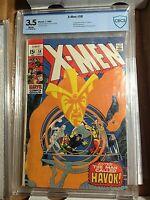 X-Men #58 CBCS 3.5 Marvel Comics 1969 1ST APPEARANCE OF HAVOK         CGC