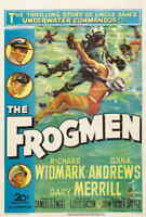 "The Frogmen (1951) Style-A 50s Richard Widmark Dana Andrews Movie Poster 27x40"""