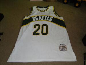SEATTLE SUPERSONICS # 20 GARY PAYTON NBA THROWBACK JERSEY BY MITCHELL NESS SZ.56