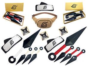 Naruto Shippuden Cosplay Artikel Set Kostüm Accessoires Shuriken Kunai Stirnband
