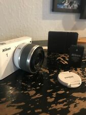 Nikon 1 J1 10.1MP Digital Camera - White VR 10-30mm Lens - great condition