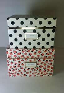 Kate Spade New York Black White Small Medium Storage Nesting Box Set Of 2