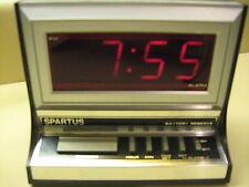 Vintage Spartus #1116 Red LED Digital Alarm Clock w/ Battery Backup Works Great