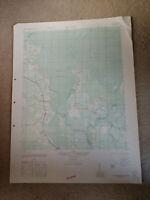 Large 28x22 1947 Topo Map Old Dock, North Carolina Crusoe Island Waccamaw