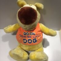 Chosun 1993 Grimmy Yellow Sitting Dog soft toy Plush Vintage LARGE Mother goose
