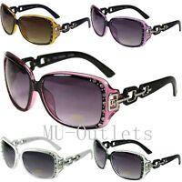 New DG Eyewear Womens Rhinestones Sunglasses Designer Shades Retro Large (362)